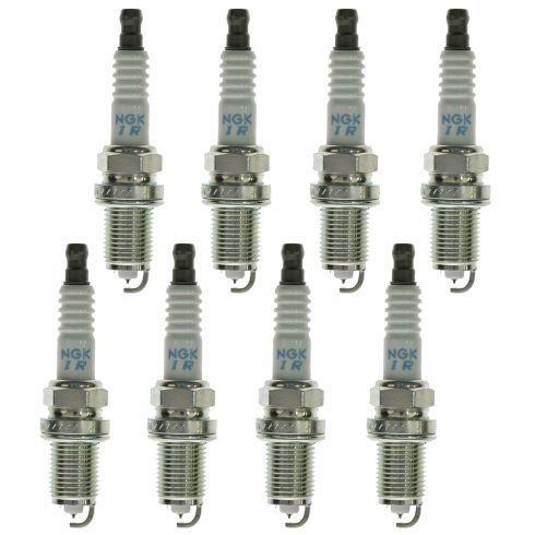 NGK Laser Iridium Spark Plugs Set of 8 (4589)