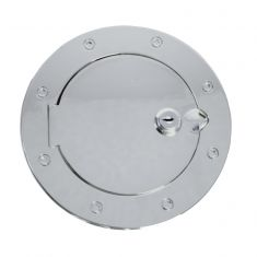 Locking Gas Cap Door, Stainless Steel, 07-14 Jeep Wrangler (JK)