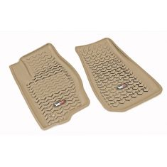 07-12 Dodge Caliber; 07-14 Jeep Compass,Patriot Tan Front Floor Liner SET (Rugged Ridge)