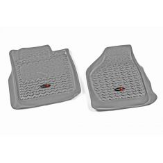 08-10 Ford F250SD, F350SD w/Elect 4WD Gray Front Floor Liner SET (Rugged Ridge)