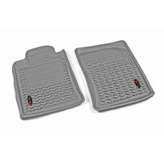 10-14 Toyota 4Runner Gray Front Floor Liner SET (Rugged Ridge)