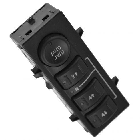 06-07 Escalade; 03-07 Full Size PU, SUV, Avalanche (w/RPO NP8 TC) Dash Mtd 4 Button 4WD Switch (GM)