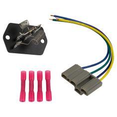 90-17 International Multifit (w/4 Terminal Connector) 3 Spd Blower Motor Resistor w/Harness Kit (DM)