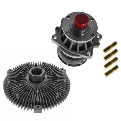 92-06 BMW 3, 5, M, X, Z Series Water Pump w/Metal Impellar & Fan Clutch Set