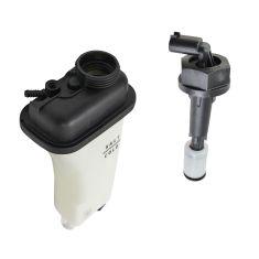 91-99 BMW 3 Series;  97-98 5 Series Radiator Overflow Tank, Cap, & Coolant Level Sensor