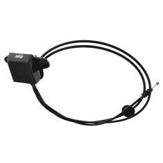 01-07 Chrysler Town & Country, Caravan, Grnd Caravan; 01-03 Voyager Hood Release Pull Handle w/Cable