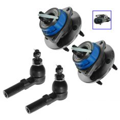 97-01 GM Multifit Wheel Hub & Outer Tie Rod Kit (Set of 4)
