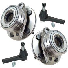96-07 Ford Taurus; 96-05 Mercury Sable Wheel Hub & Outer Tie Rod Kit (Set of 4)