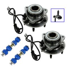 97-05 GM Mid Size SUV; 97-04 Mid Size PU w/4WD & ABS Front Hub w/Sway Bar Link Kit (Set of 4)