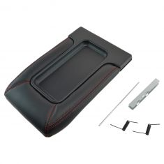 99-07 GM FS Pickup, SUV w/Front Row Split Bench Black w/Red Stiching Console Lid Repair Kit