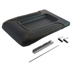 99-07 GM FS Pickup, SUV w/Front Row Split Bench Black w/Gold Stiching Console Lid Repair Kit