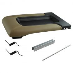 99-07 GM FS Pickup, SUV w/Front Row Split Bench Tan Console Lid Repair Kit