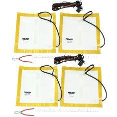 Single Bucket Seat (Upper & Lower Cushion) Deluxe Heater Kit w/Lighted HI-LO Switch Pair  (Dorman)