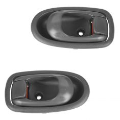 02-04 Kia Spectra  Front or Rear Inner Gray Door Handle Pair (Kia)