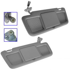 04-11 Mazda RX-8 Gray Sunvisor w/Mirror & Courtesy Light Pair(Mazda)
