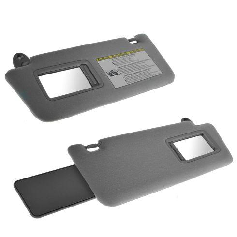 Toyota Tacoma Sun Visors LH & RH w Extensions & Mirrors Light Gray NEW 2005-2014