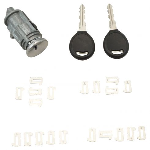 98-09 Chrysler, Dodge, Jeep, Plymouth Multifit Ignition Lock Cylinder w/Tumblers & Keys (Dorman)