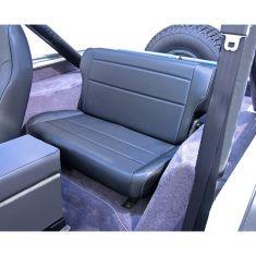 Fold and Tumble Rear Seat, Black, 76-95 Jeep CJ and Wrangler