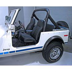 High-Back Front Seat, Non-Recline, Black Denim 76-02 Jeep CJ, Wrangler