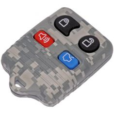 95-13 Ford; 95-12 Lincoln; 95-11 Merc (4 But) FOB Gray Camo Keyles Rem Case w/Plastic Insert (Dorm)