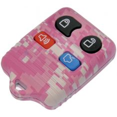 95-13 Ford; 95-12 Lincoln; 95-11 Mercury (4 But) FOB Pink Keyless Remote Case w/Plastic Insert (Dor)