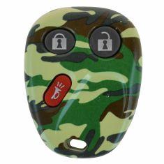 02-09 GM PU, SUV (3 But) Green Camouflage Keyless Rem Case (w/Insert 9ID: LHJ011, MYT3X6898B) (Dor)