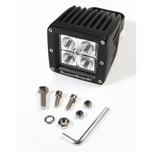 3-Inch Square LED Driving Light, 16 Watt