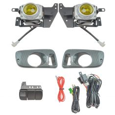 92-95 Honda Civic 2dr/3rd Add-on Yellow Lens Fog Light Pair w/ Installation Kit