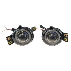 2002-09 Dodge Pickup New Body Performance Clear Lens Halo Style Fog Light Pair