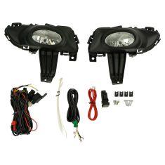 04-06 Mazda 3 i-Sedan Add-on Clear Lens Fog Light Pair w/ Installation Kit