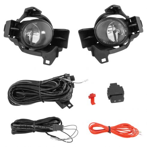 10-12 Nissan Altima Sedan Add-on Clear Lens Fog Light Pair w/ Installation Kit