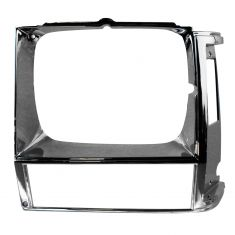 84-90 Jeep Cherokee; 86-90 Comanchee; 84-85 Wagoneer Headlight Bezel Chrome LH