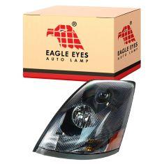 04-14 Volvo VNL 200 300 430 630 670 730 780 Series w/Black Bezel & Non Protruding Lens Headlight LH