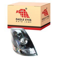 04-14 Volvo VNL 200 300 430 630 670 730 780 Series w/Black Bezel & Non Protruding Lens Headlight RH