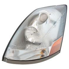 04-18 Volvo VNM, VNL; 04-14, VN Headlight w/Chrome Housing & Aero Lens LH