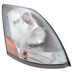 04-18 Volvo VNM, VNL; 04-14, VN Headlight w/Chrome Housing & Aero Lens RH