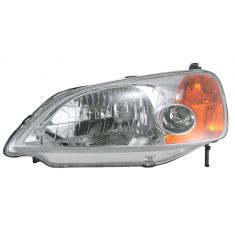 2001-03 Honda Civic Headlight  4 Door Sedan Drivers Side