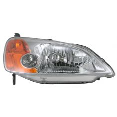 2001-03 Honda Civic Headlight  4 Door Sedan Passengers Side
