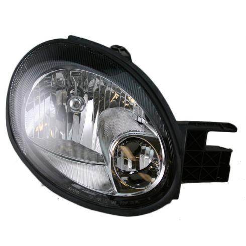 Headlight Headlamp w// Black Bezel Passenger Side Right RH for 00-02 Dodge Neon