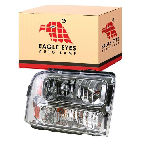 05-07 Ford Super Duty PU Comp Headlight Clr Lens R