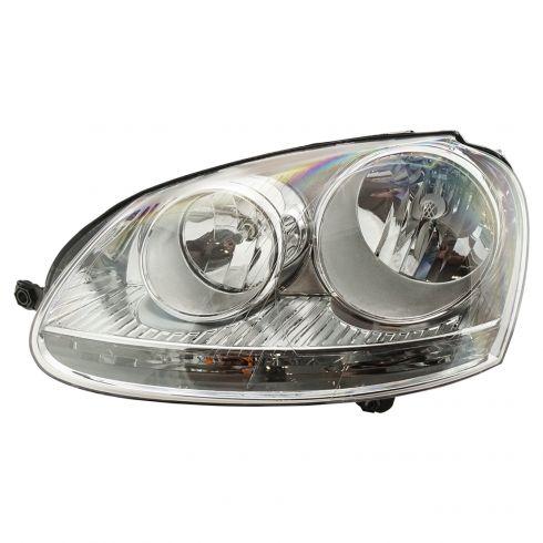 05-10 Volkswagen Jetta, Golf, Rabbit Halogen Headlight LH