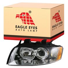 02-05 Audi A4 S4 Non-HID Headlight LH