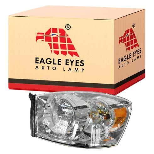 06-08 Dodge Ram PU Headlight w/o Amber Bar LH