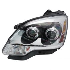 08-09 GMC Acadia w/Clear Lens; 10-12 Acadia Halogen Headlight LH