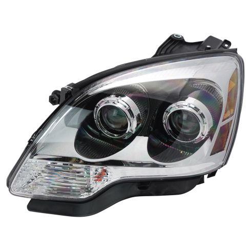 08-09 GMC Acadia w/Clear Lens; 10-12 Acadia Halogen Headlight LH