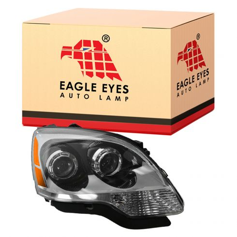 08-09 GMC Acadia w/Clear Lens; 10-12 Acadia Halogen Headlight RH