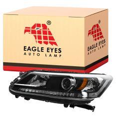 13-15 Honda Accord EX, LX, Sport, EX-L (w/2.4L) Sedan Halogen Headlight LH