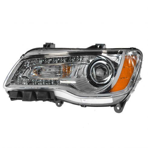 11-14 Chrysler 300 Halogen Headlight w/Chrome Bezel LH