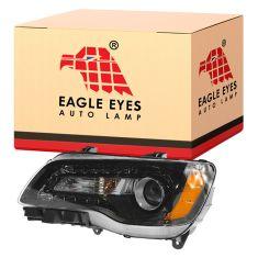 11-14 Chrysler 300 Halogen Headlight w/Black Bezel LH
