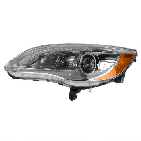 11-14 Chrysler 200 Halogen Headlight w/Chrome Bezel LH